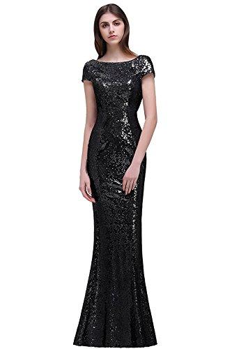 da4bd29d69 MisShow Women Sparkly Long Sequins Bridesmaid Dress Prom Evening ...